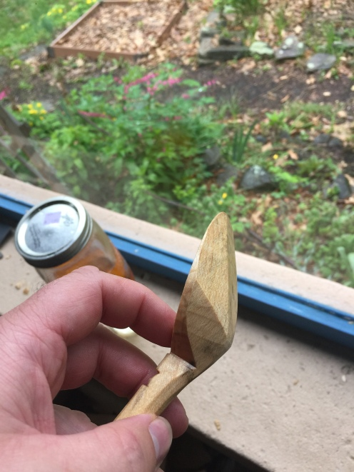 side view of finished spoon